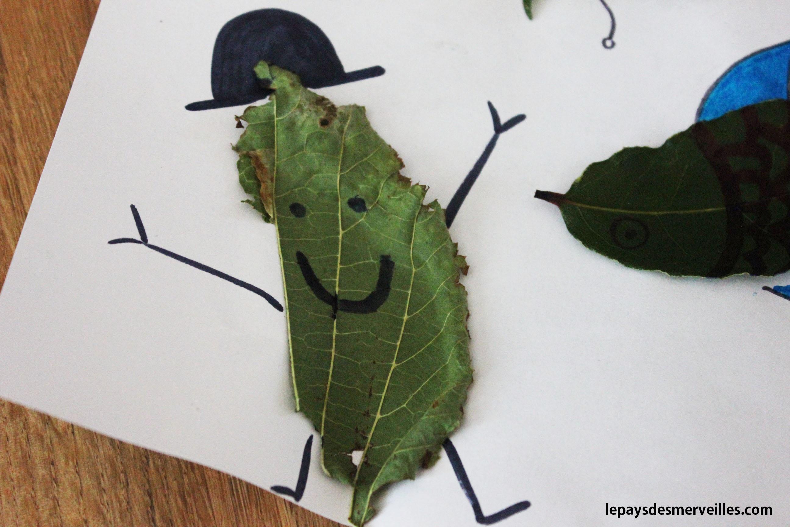 Premier bricolage d 39 automne collage de feuilles d 39 arbre le pays des merveilles - Bricolage feuille d automne ...