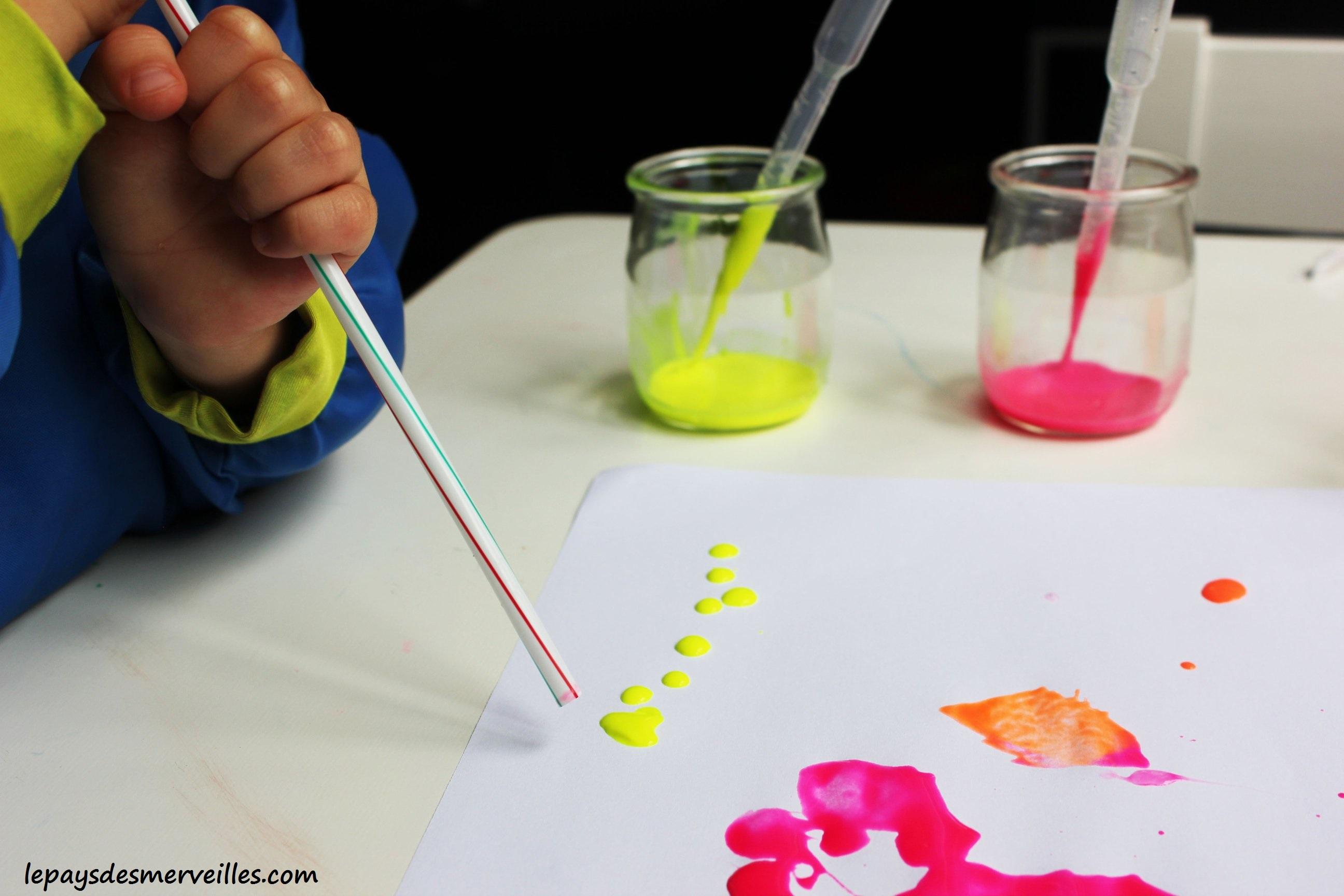 Peinture souffl e la paille le pays des merveilles - Les couleurs de la peinture ...