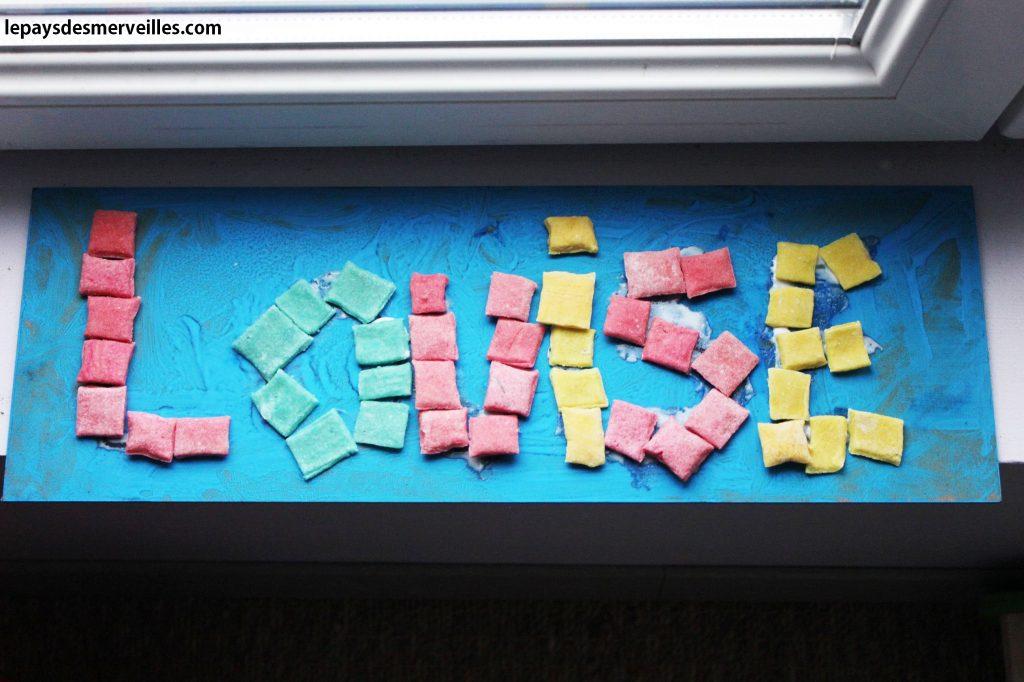Apprendre à écrire son prénom - pâte à sel (6)