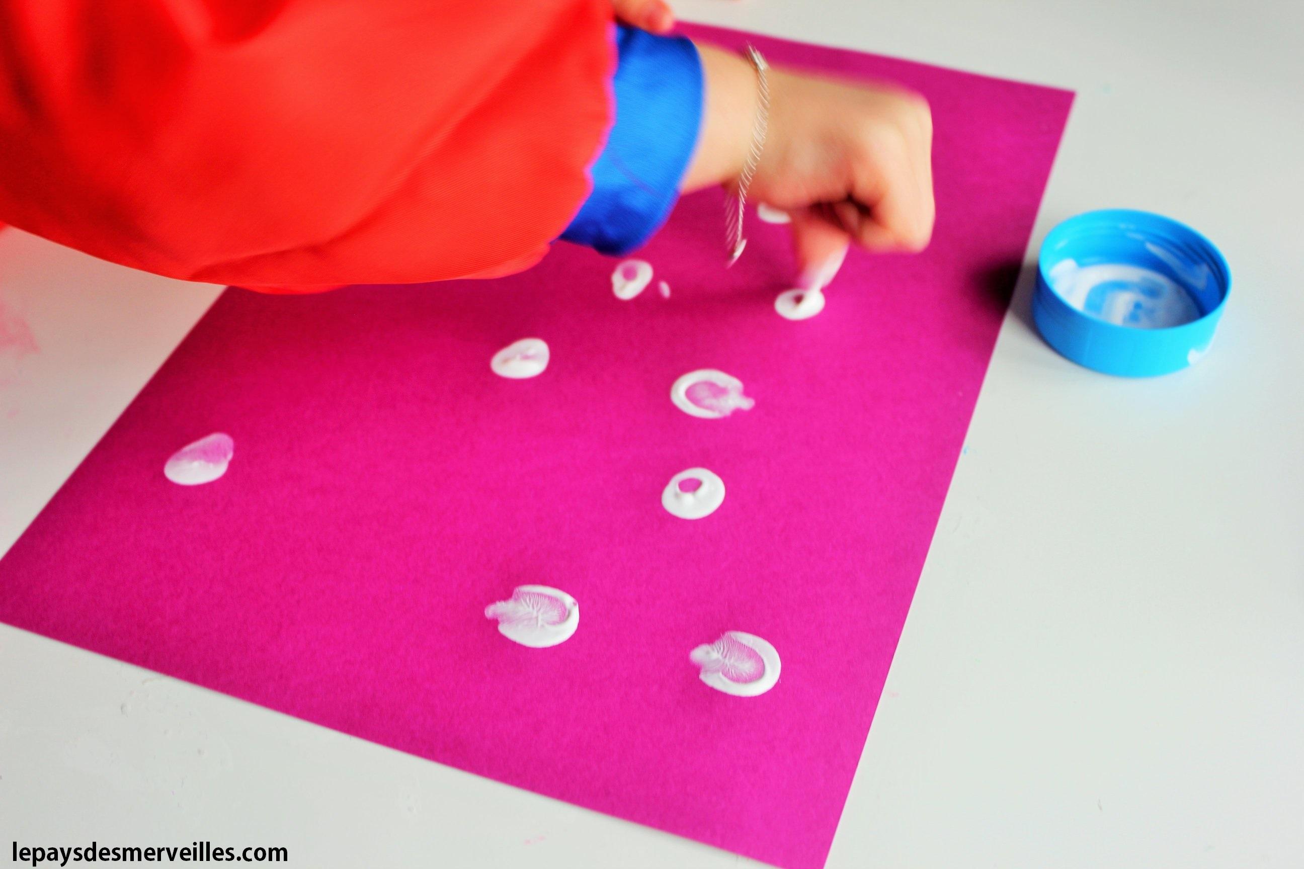 bonhommes de neige avec des empreintes de doigts le pays des merveilles. Black Bedroom Furniture Sets. Home Design Ideas