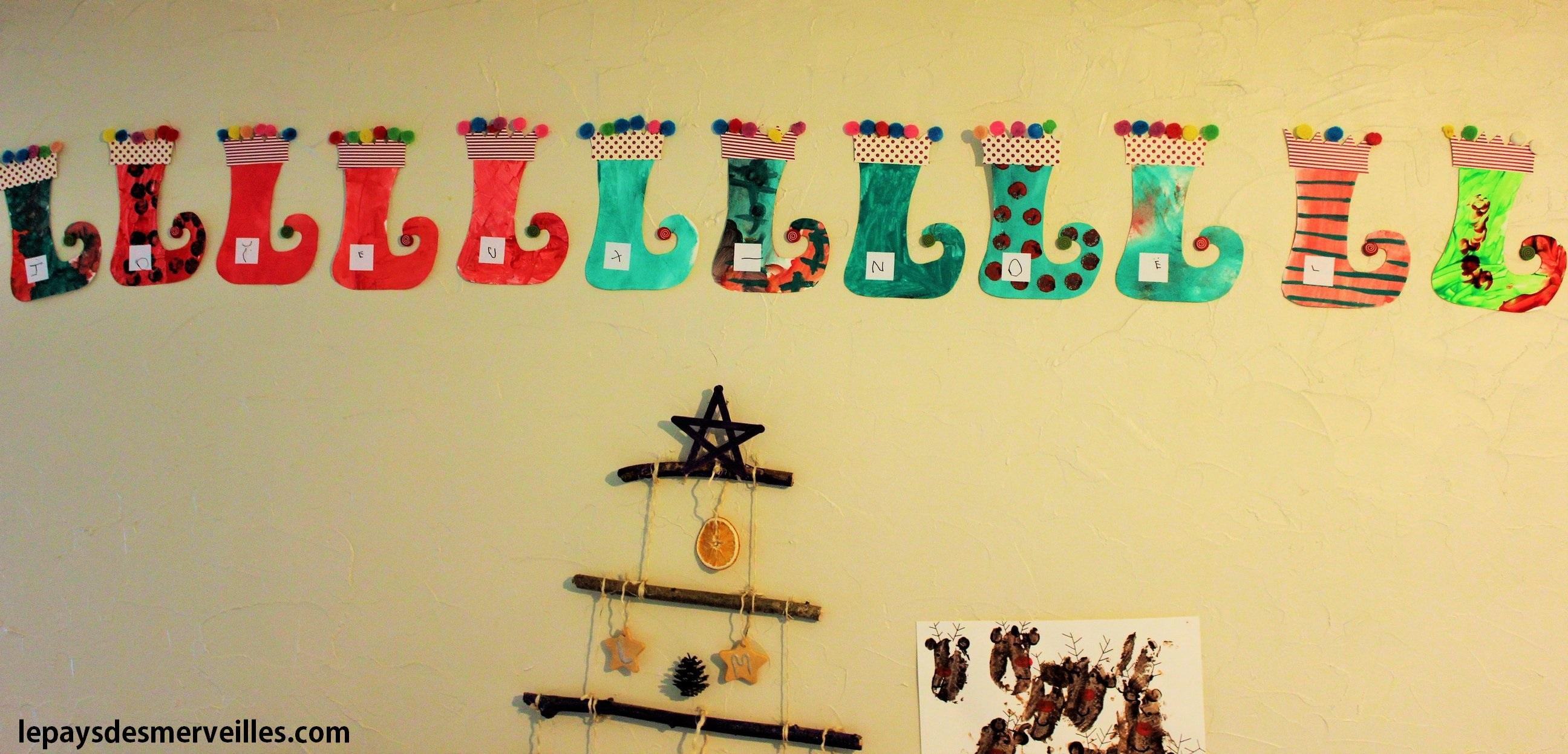 Chaussettes de lutins l art est un jeu d enfant 2 le pays des merveilles - Bricolage chaussette de noel ...