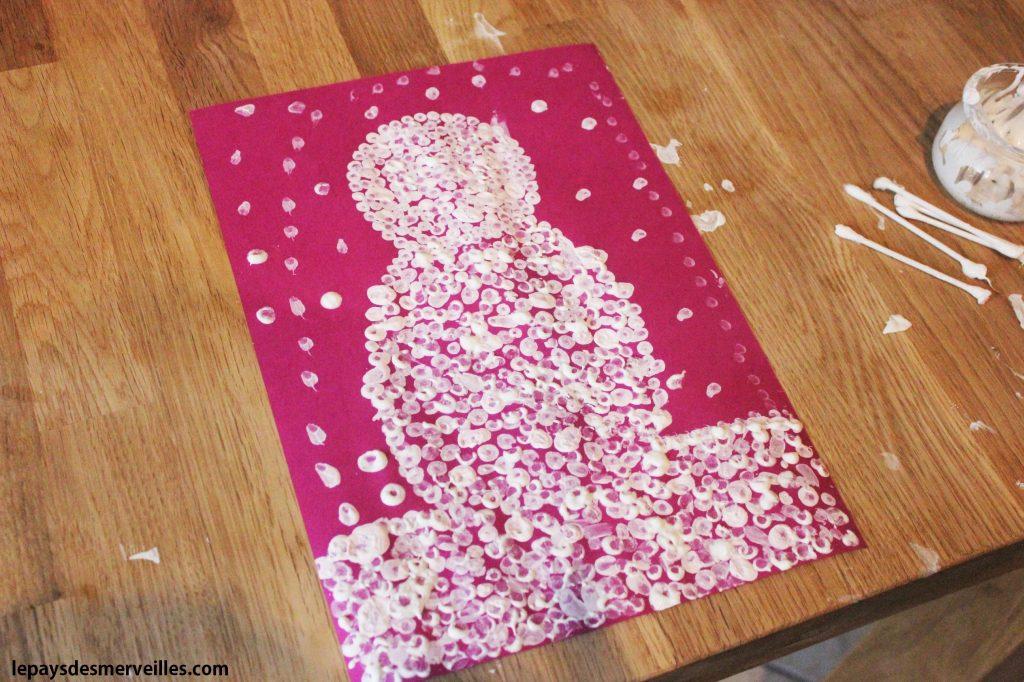 bonhomme de neige coton tige (5)