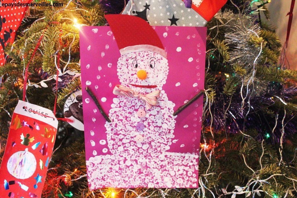 bonhomme de neige coton tige (6)