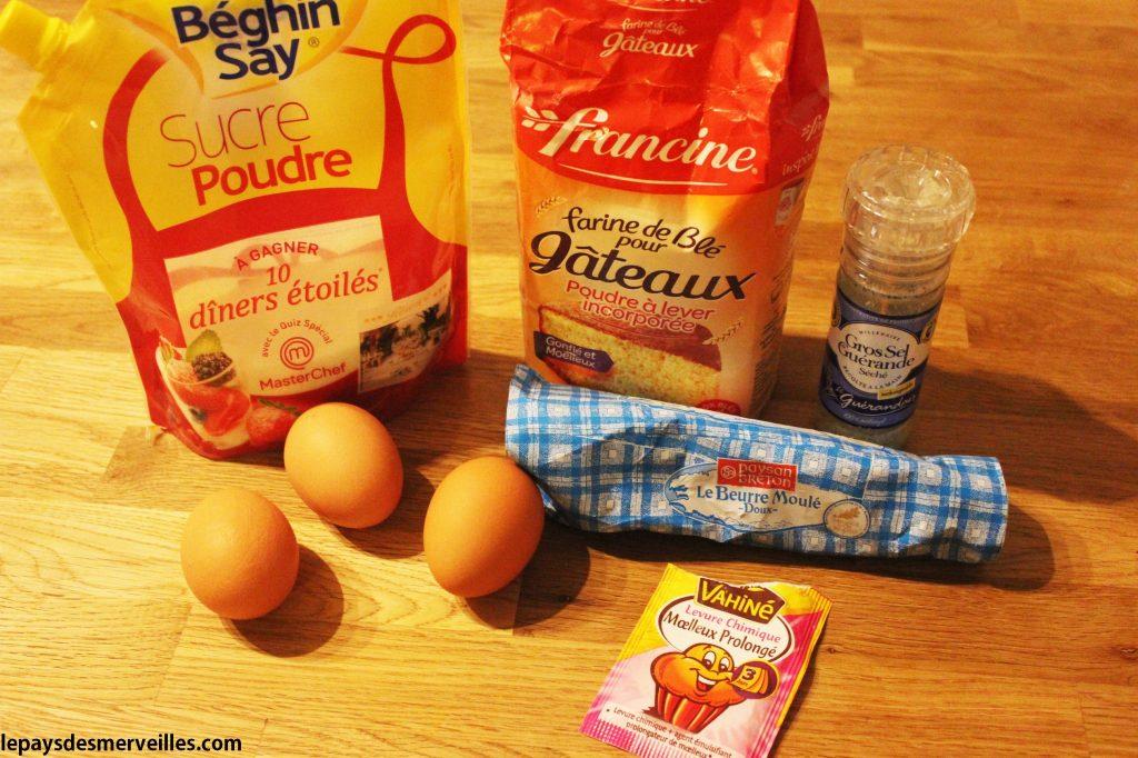 ingrédient gâteau enfant