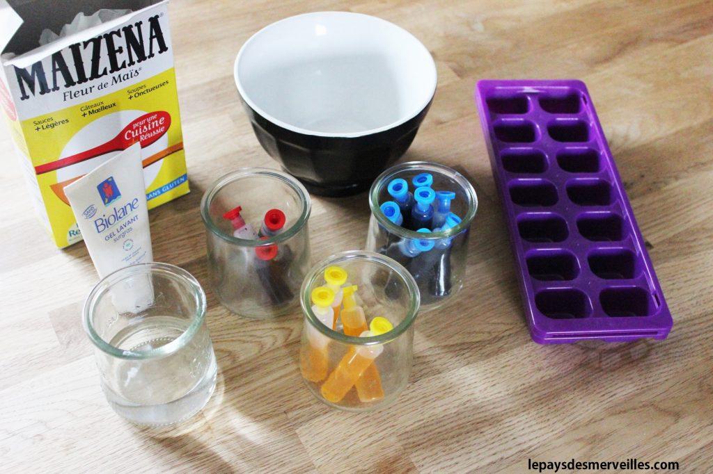 ingrédients pour fabriquer de la peinture pour le bain