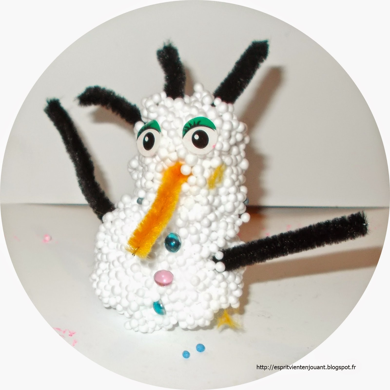 Un bonhomme de neige en porcelaine froide recette le pays des merveilles - Bonhomme de neige en polystyrene ...