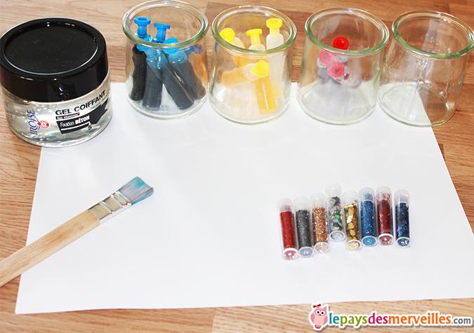 Il faut que a brille peinture paillet e faite maison l for Peinture boiro jeu deffet paillettes