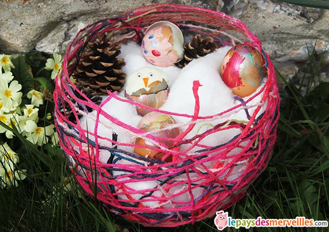 Bricolage De Pâques œuf De Pâques Géant En Laine Le Pays Des