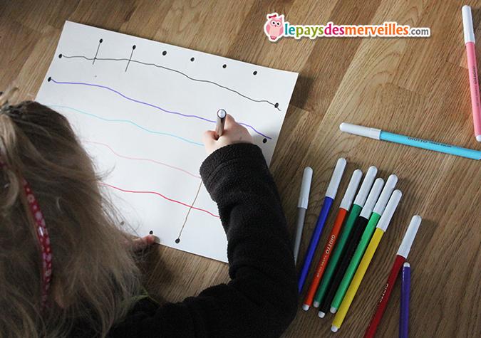 Populaire Un exercice de graphisme pour les enfants de maternelle°° - Le  MM16