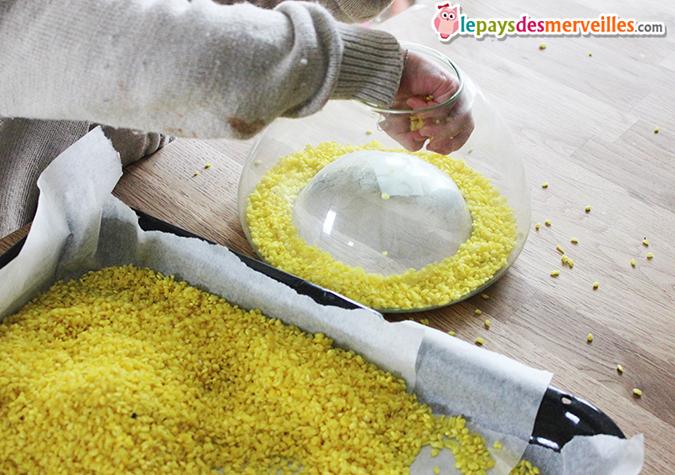 transvasement riz coloré