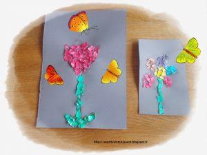 activité manuelle fleurs