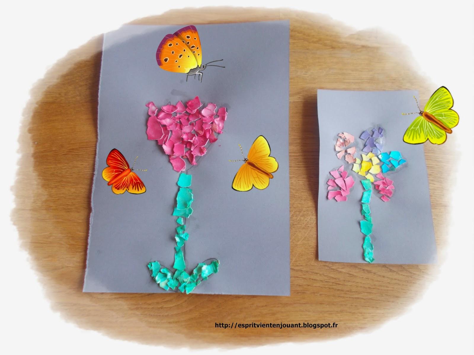 Diy son joli bouquet de printemps fait de pompons l art - Activite manuelle fleur ...