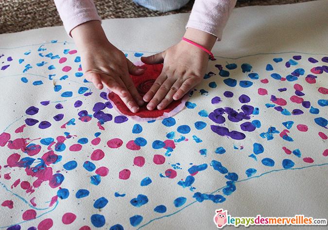 activité collage serviette enfant