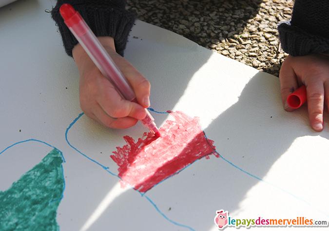 coloriage silhouette enfant