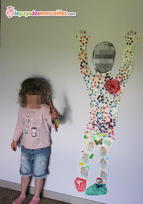 decorer sa propre silhouette enfant
