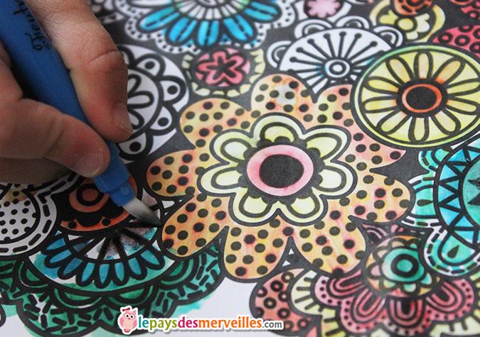 peinture magique activité