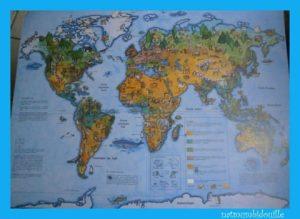 cherche et trouve carte du monde
