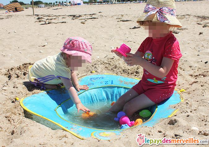 occuper les enfants à la plage