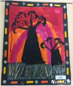 peinture baobab africain