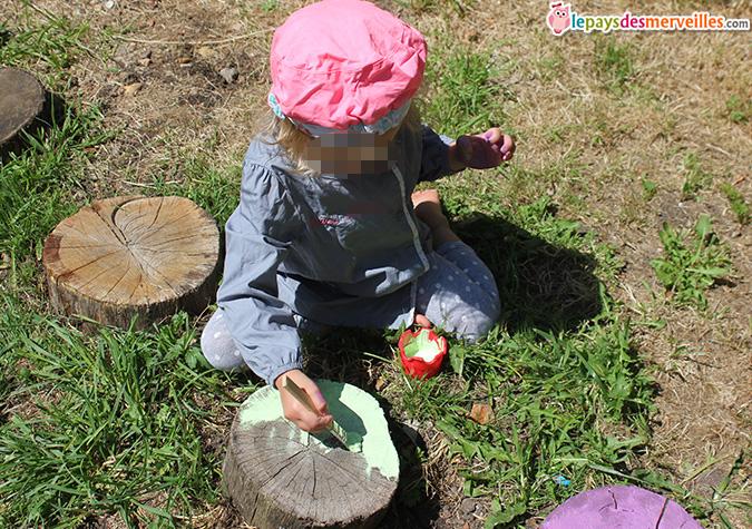 peinture sur bois activité enfant (2)