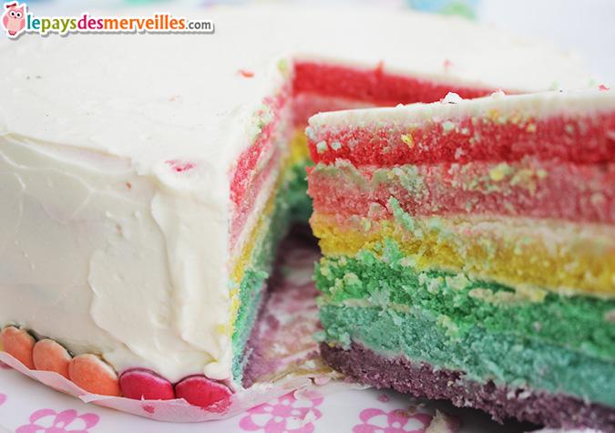 rainbow cake intérieur