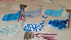activité décorer baleines