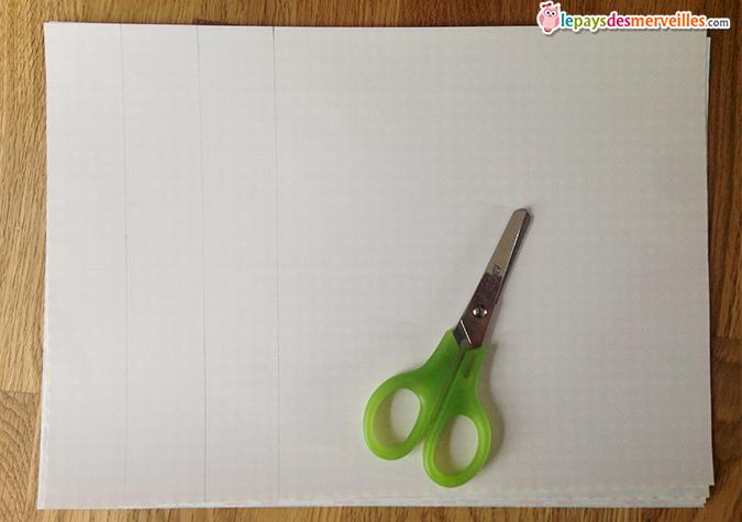 découpage bande de papier