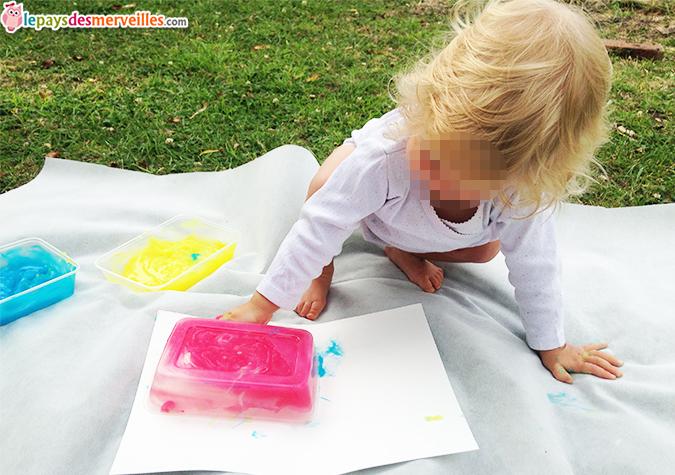 peinture à doigt fait maison