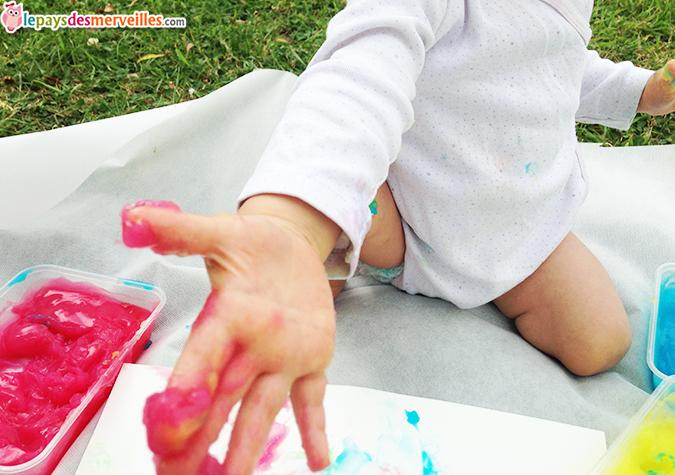 peinture bébé sucre maizena eau