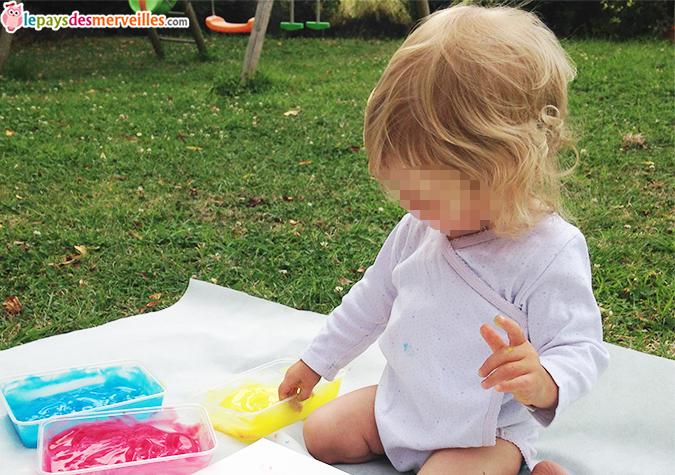 peinture comestible bébé
