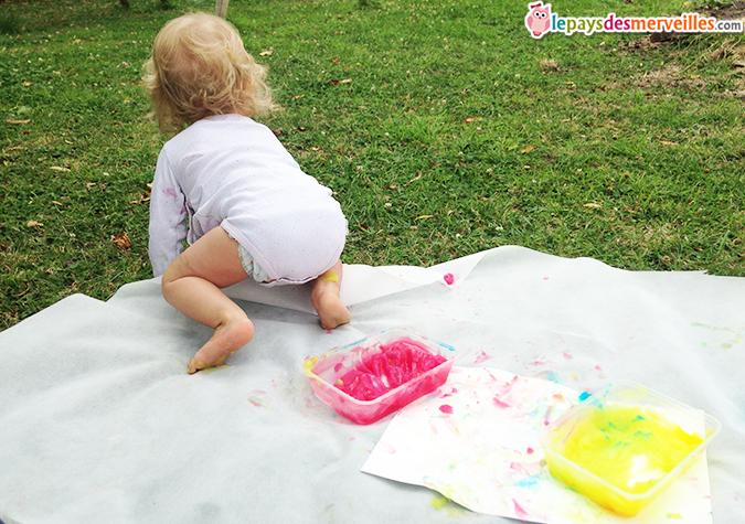 recette peinture bébé