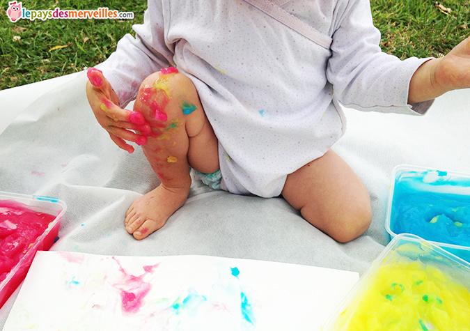 recette peinture maison bébé