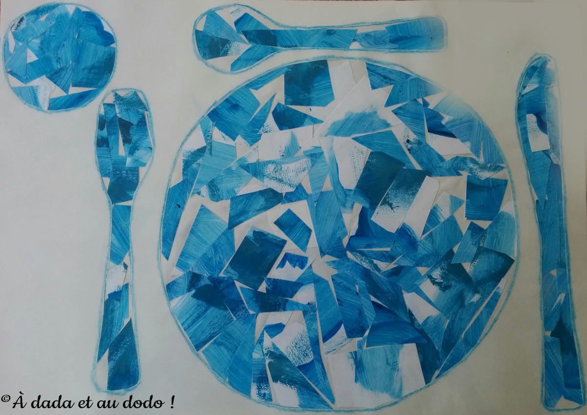 Activit peinture collage viser la lune l art est un jeu d enfant 10 le pays des merveilles - Activite manuelle set de table ...