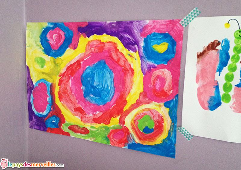 Peinture cercles maternelle