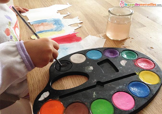 activité manuelle peinture à l'eau