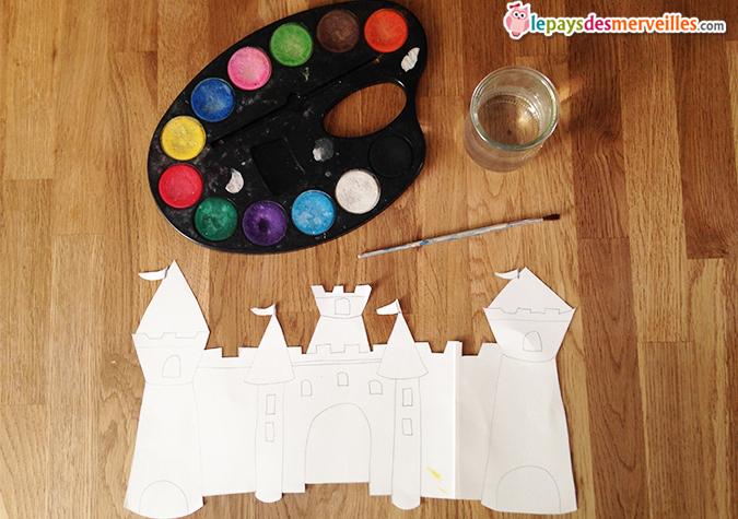 activité manuelle peinture chateau