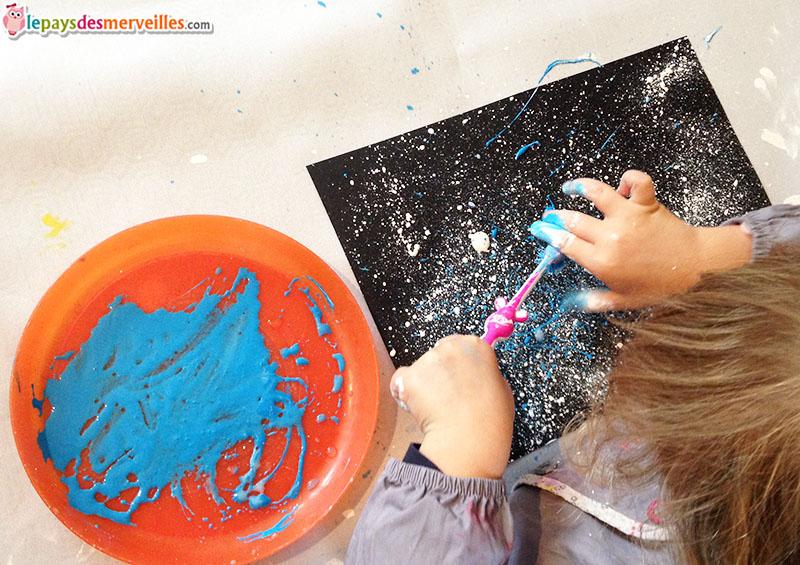 ciel étoilé peinture brosse à dent