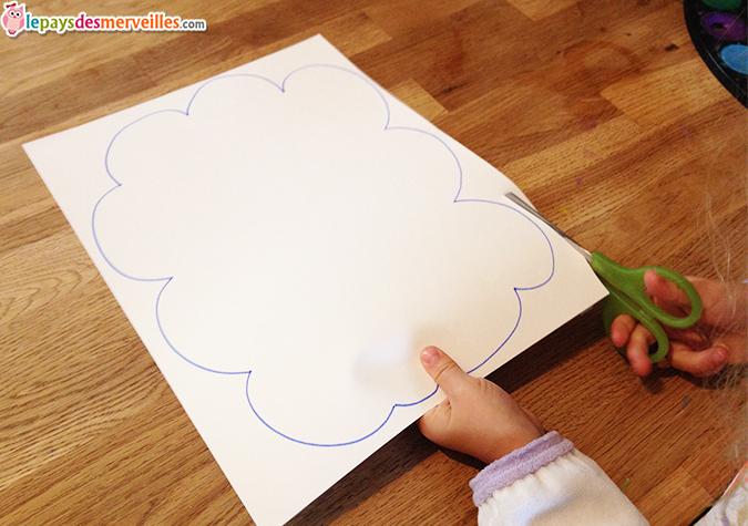 decoupage enfant nuage