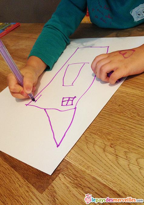dessin maison enfant 4 ans