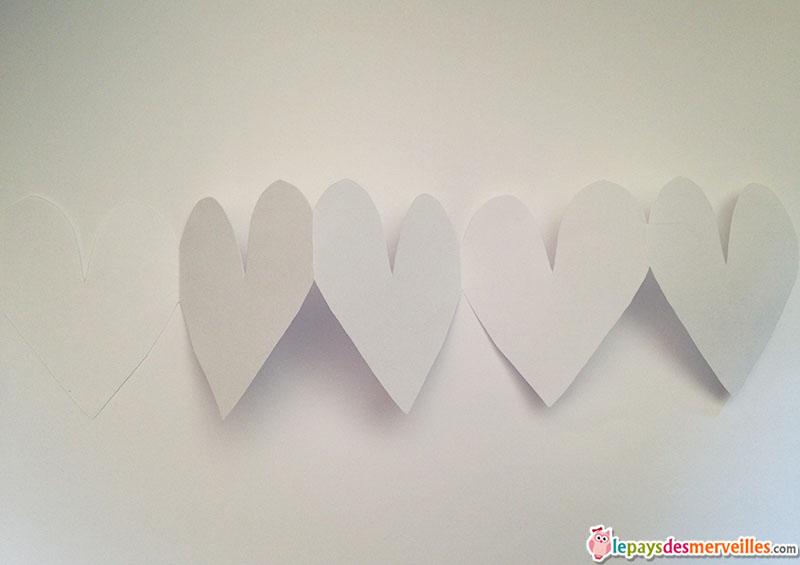 guirlande papier coeur