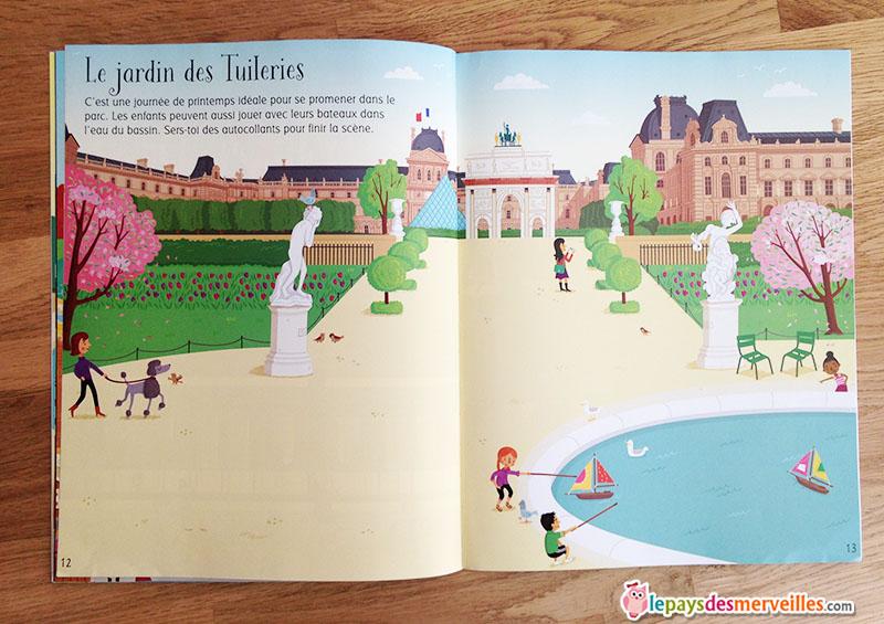 livre jeux autocollants Le jardin des Tuileries