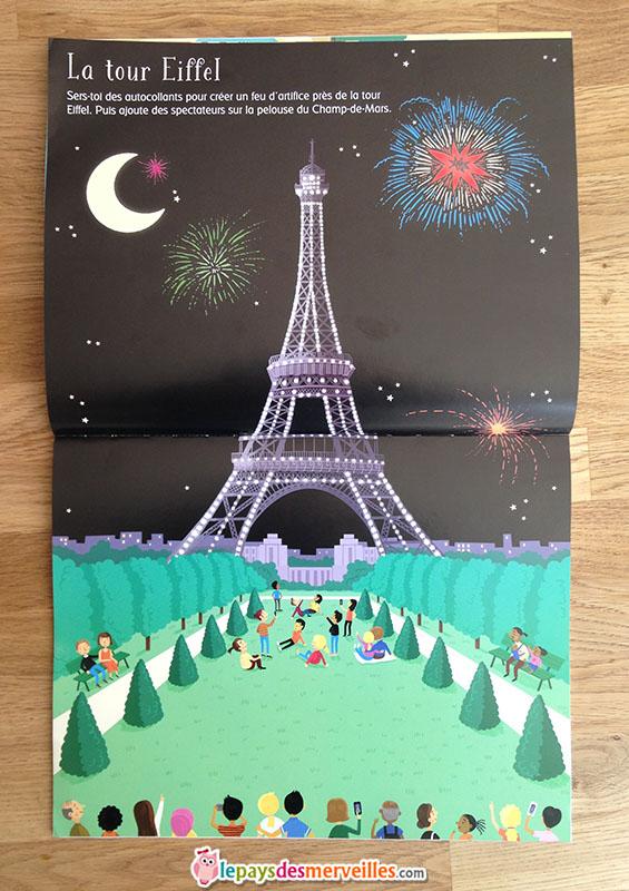 livre jeux autocollants Tour Eiffel