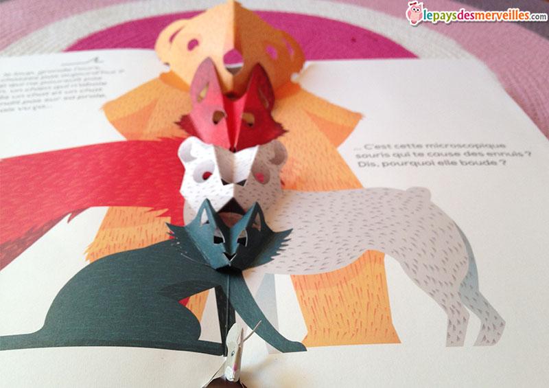livre pop-up illustrations 3D
