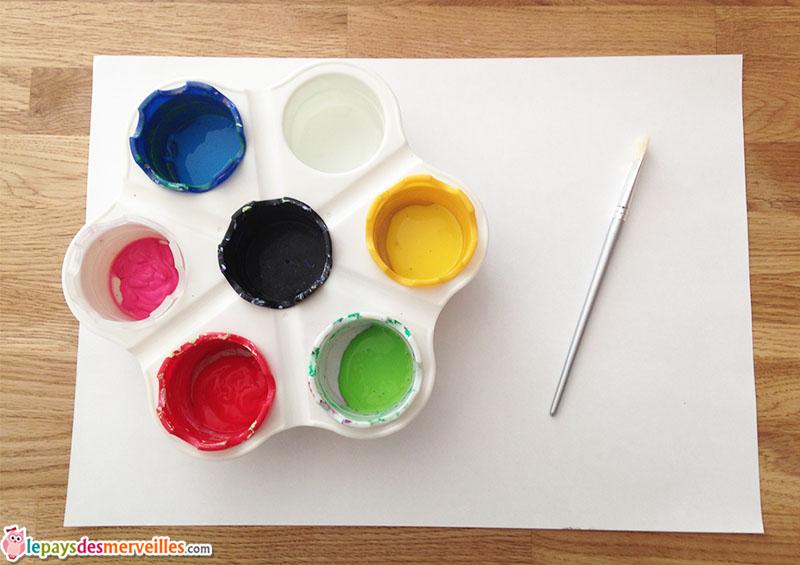 matériel peinture cercles