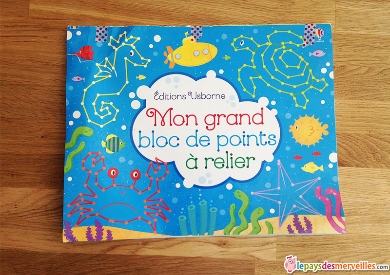 mon grand bloc de points à relier usborne