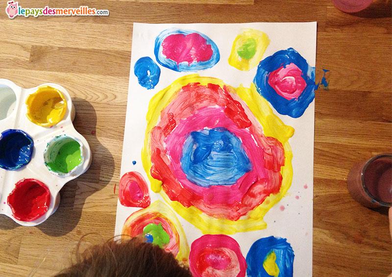 peinture à la manière de Kandinsky