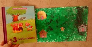 peinture les 3 petits cochons