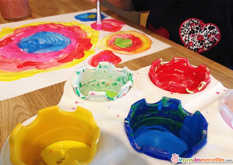 peinture maternelle cercles