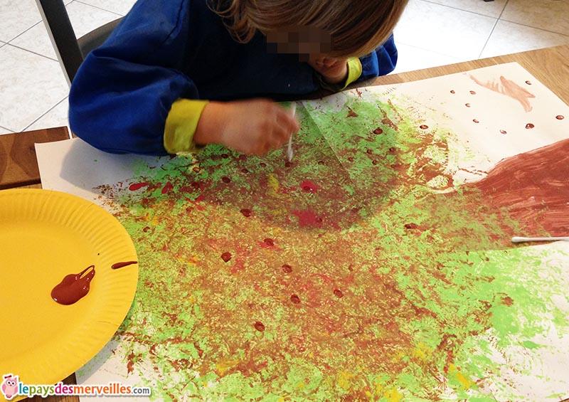 bricolage d 39 automne un marronnier peint avec une fleur. Black Bedroom Furniture Sets. Home Design Ideas