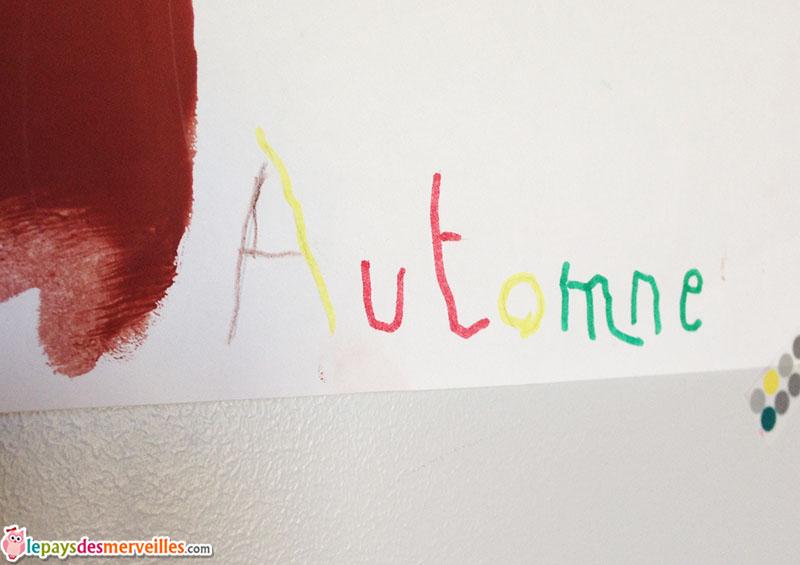 activité manuelle automne
